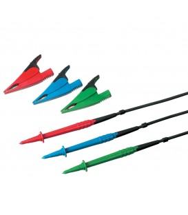 TL165X - Set di puntali standard con cavi e pinze